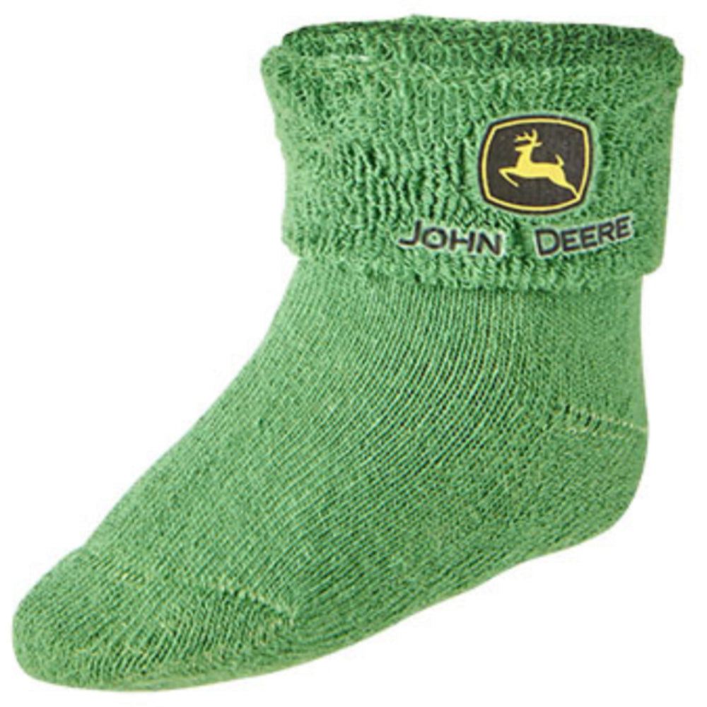 John Deere Green Logo Infant Bootie Socks - LP64354