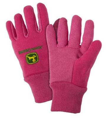 Youth John Deere Lightweight Work Gloves (Pink) - LP42388