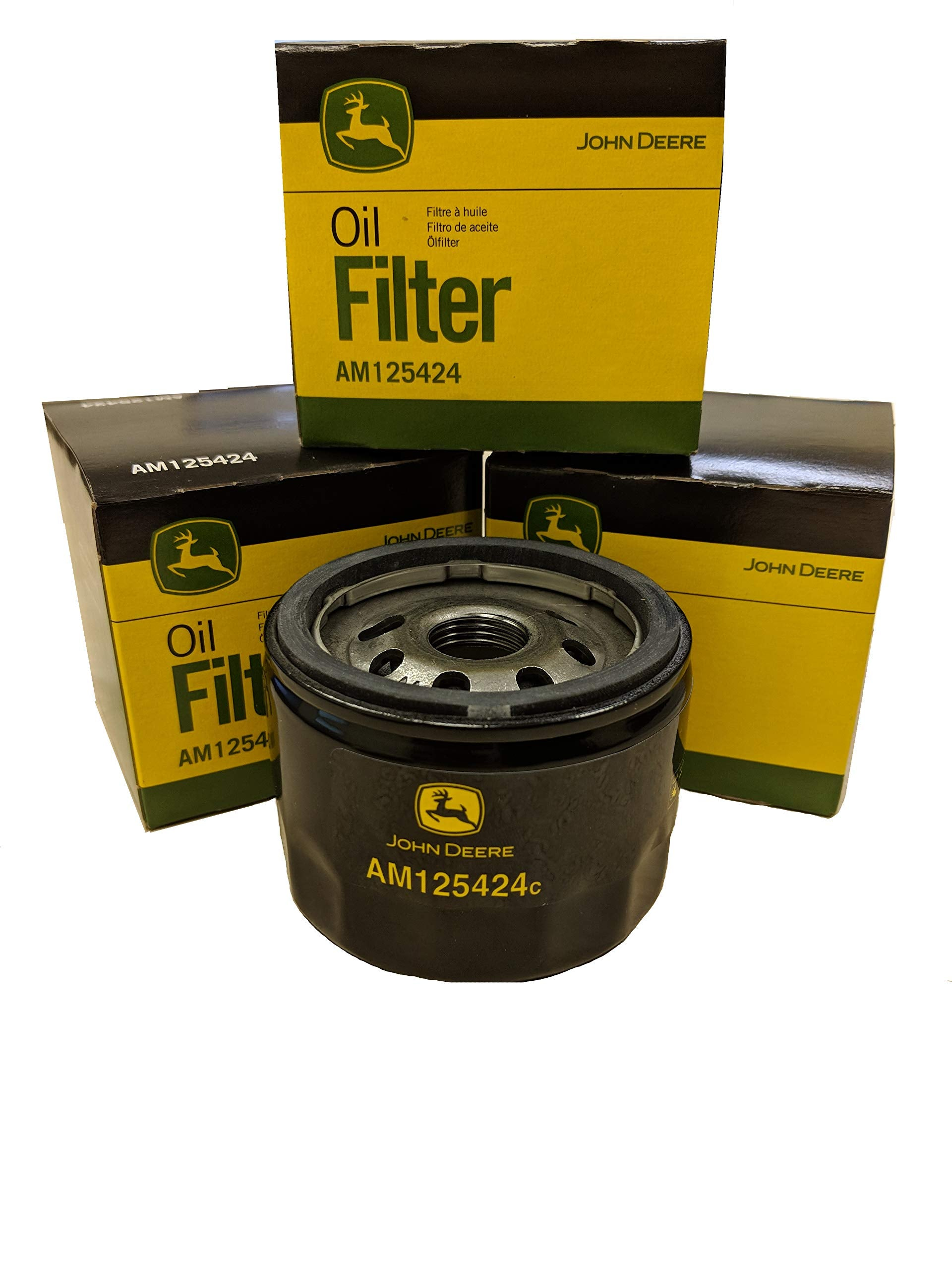 John Deere Original Equipment Package of Three Oil Filters - AM125424 (3)