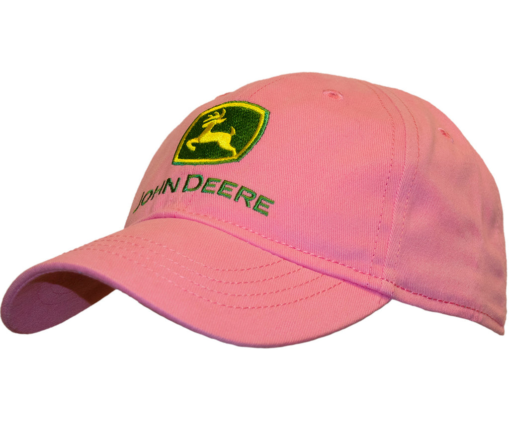 John Deere Logo Youth Girl's Pink Cap/Hat - LP51354