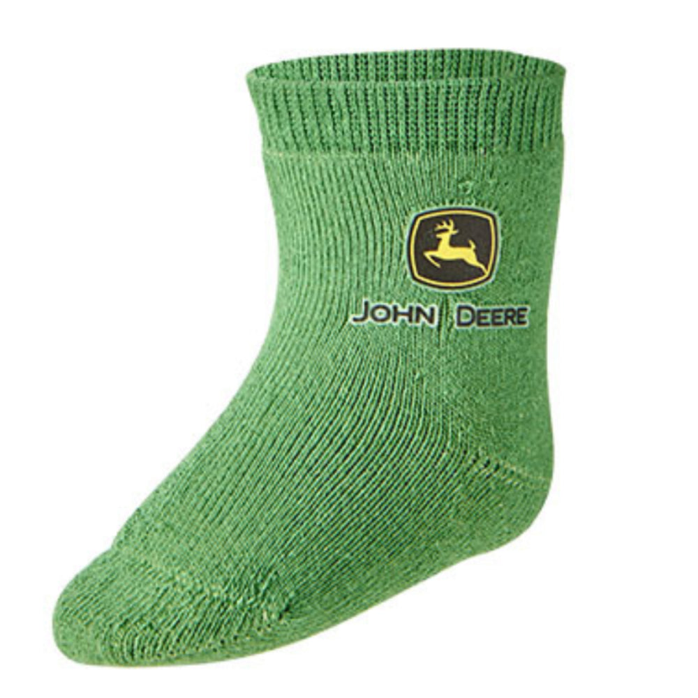 John Deere Infant Logo Crew Sock Green - LP64360