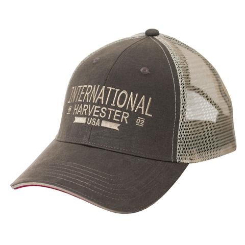 IH Two-Tone Oil Cloth Trucker Cap/Hat - A2337