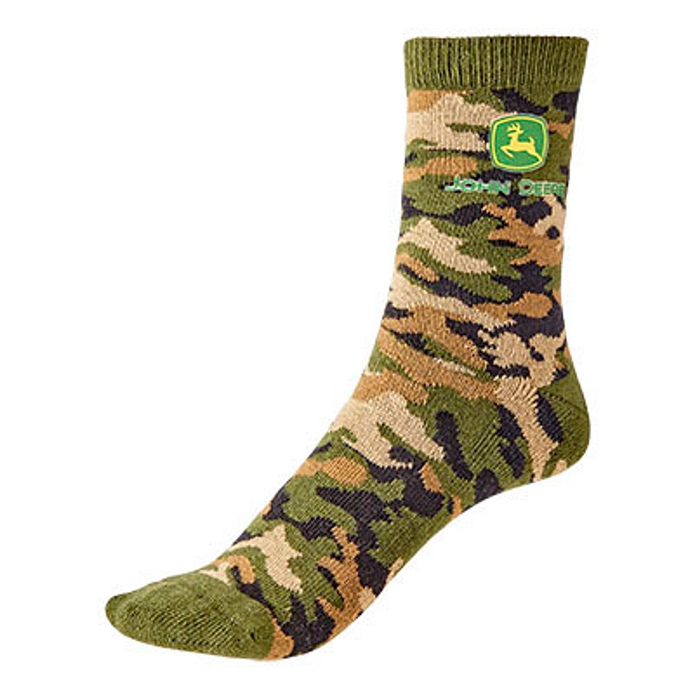 Toddler / Youth Boys John Deere Camo Socks (Size 2T-4T) - LP64373