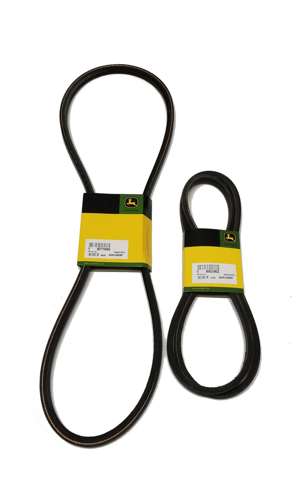 "John Deere Primary(M77988) & Secondary(M82462) Deck Drive Belt for 38"" Deck - M82462A"