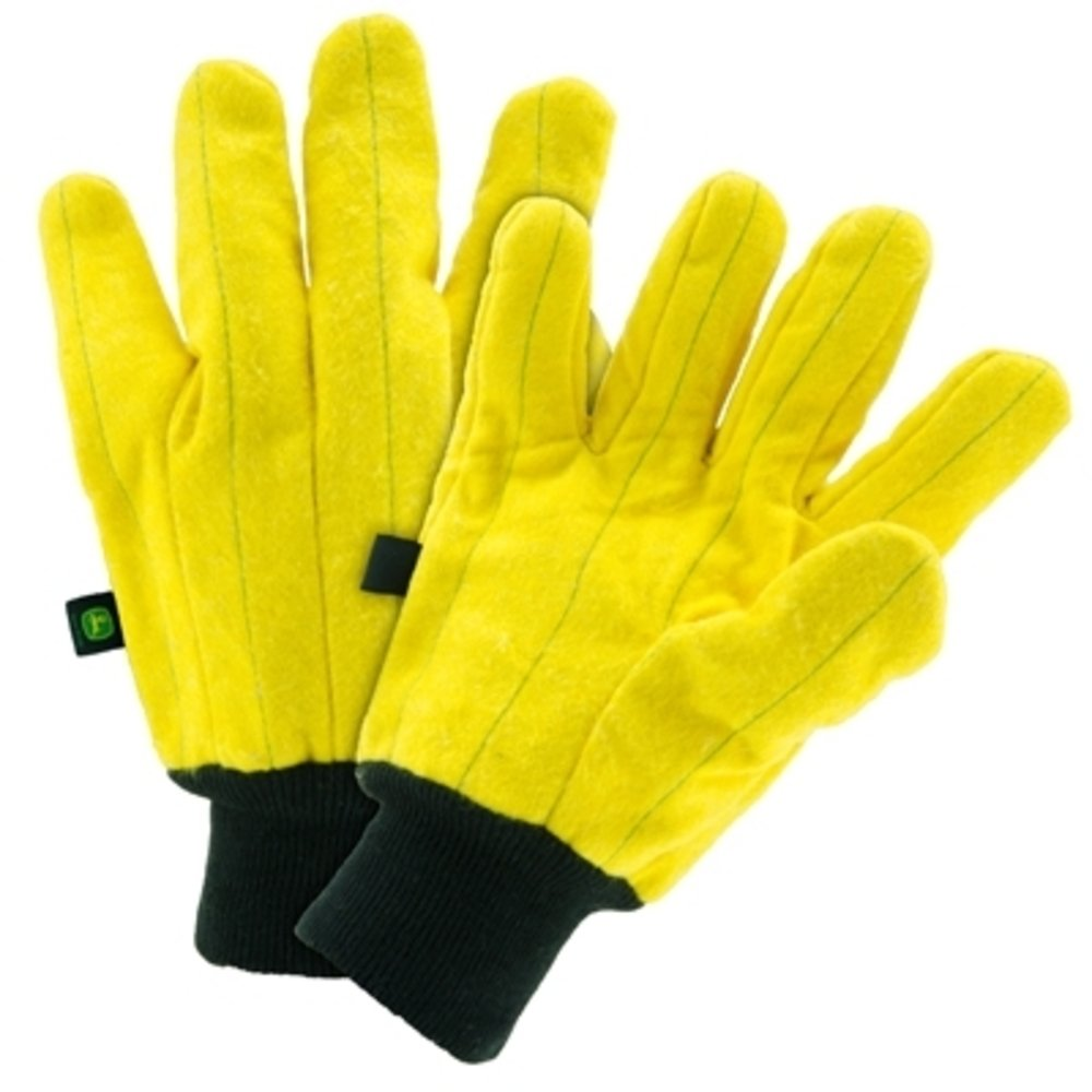 John Deere Men's Yellow Heavy Duty Chore Gloves (Large) - LP47685