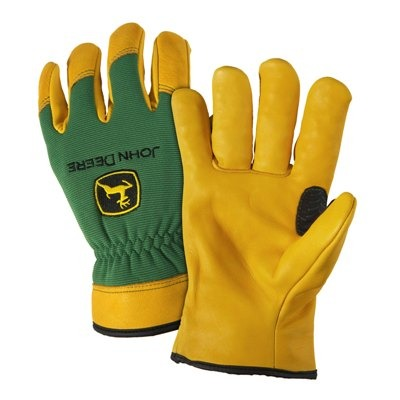 John Deere Deerskin Work Gloves (Large) - LP42398