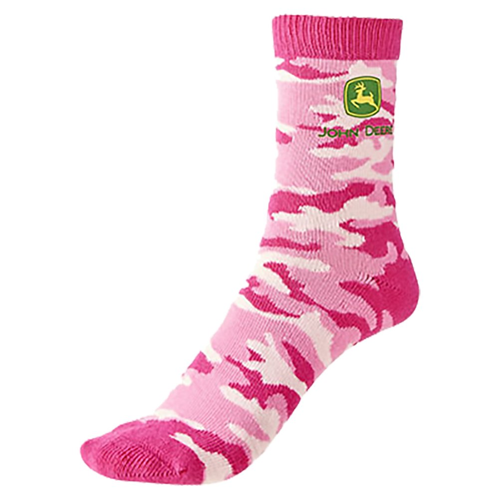 John Deere Toddler Girl Camo Crew Sock - LP64399