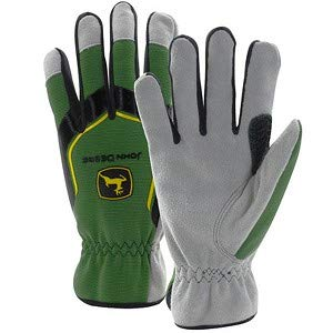 John Deere Men's Cowhide Spandex Back Glove (2XL) - LP67363