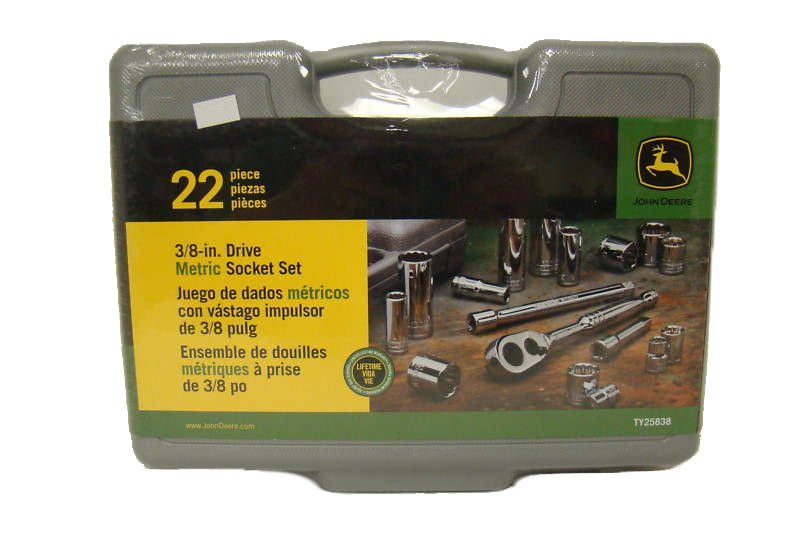 "John Deere 22-Piece 3/8"" Drive Metric Socket Set - TY25838"