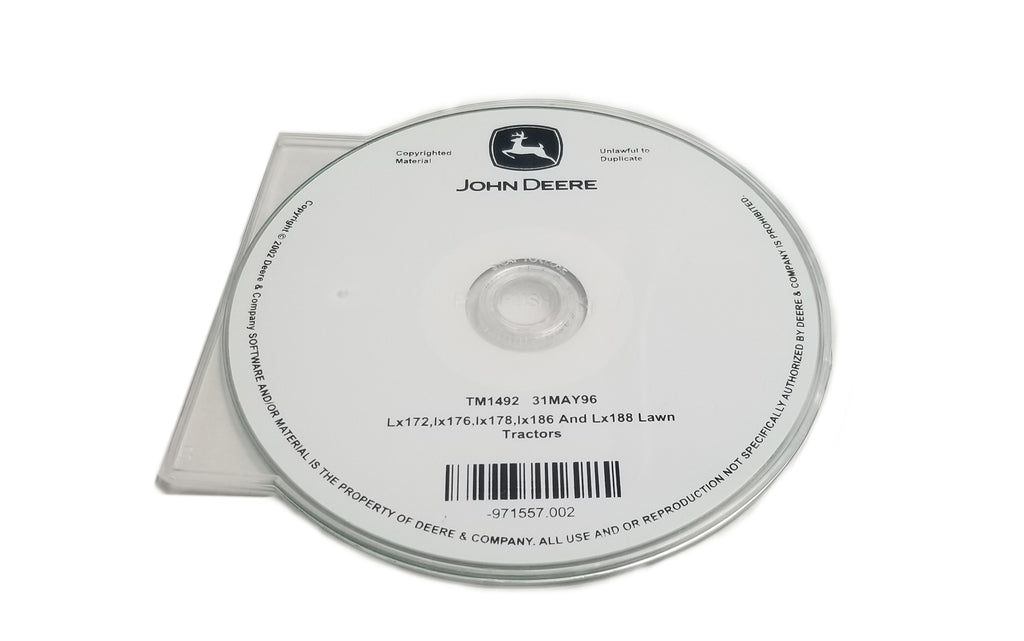 John Deere LX172/LX173/LX176/LX178/LX186/LX188 Lawn Tractors Technical CD Manual - TM1492CD