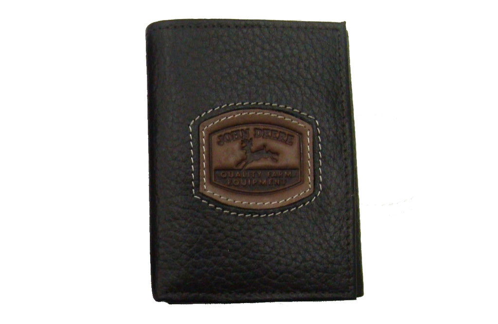 Men's John Deere Brown Leather Trifold Wallet - LP35479
