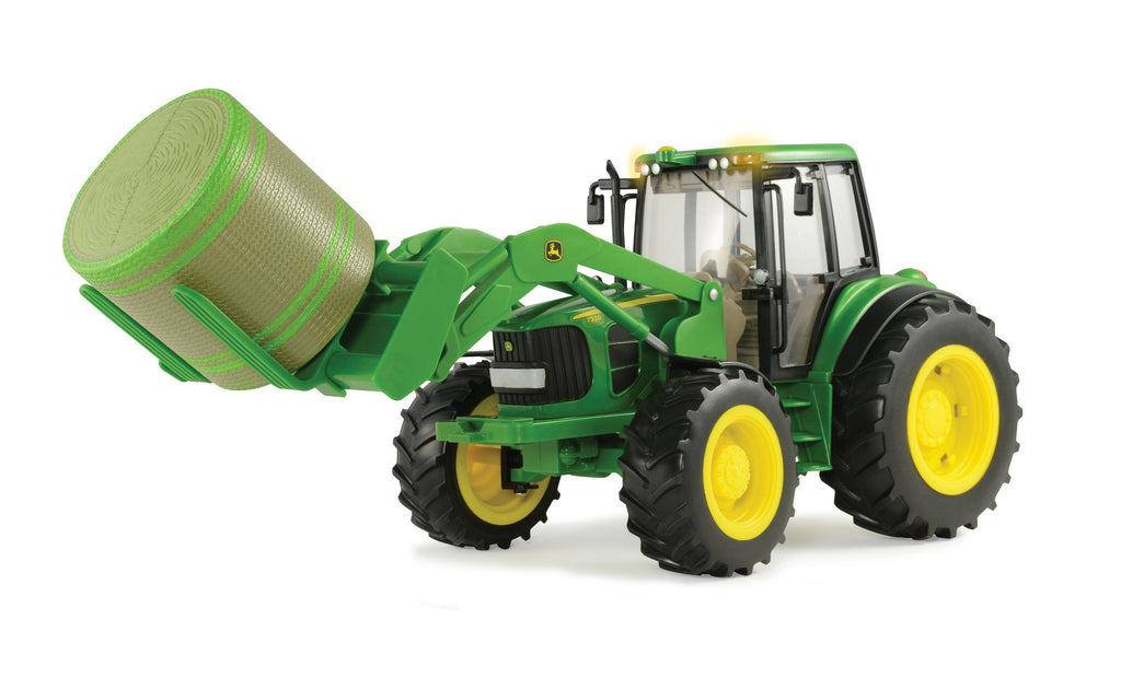 1/16 Big Farm John Deere 7330 Vehicle with Front Bale Mover and Bale - LP51314