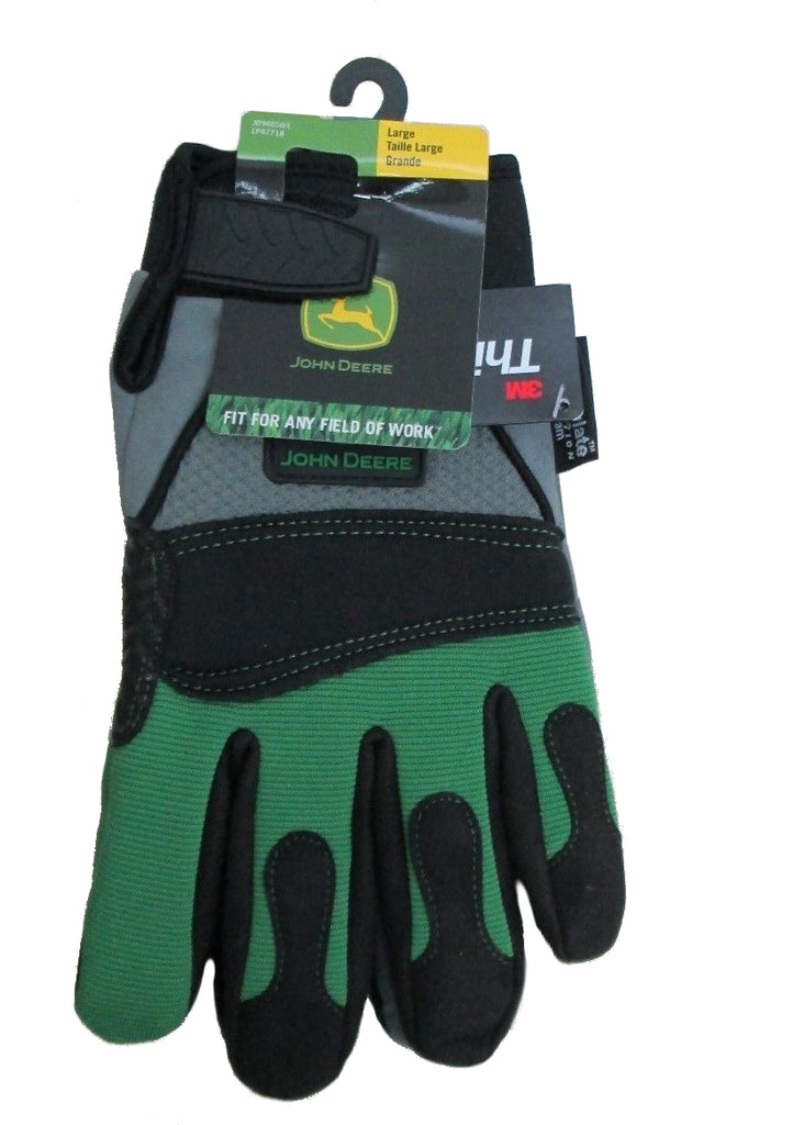Mens John Deere Touchscreen Gloves with Thinsulate (Size LARGE) - LP47718
