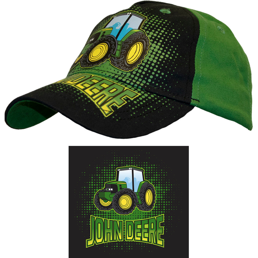 John Deere Black/Green Toddler Tractor Hat/Cap - LP70105