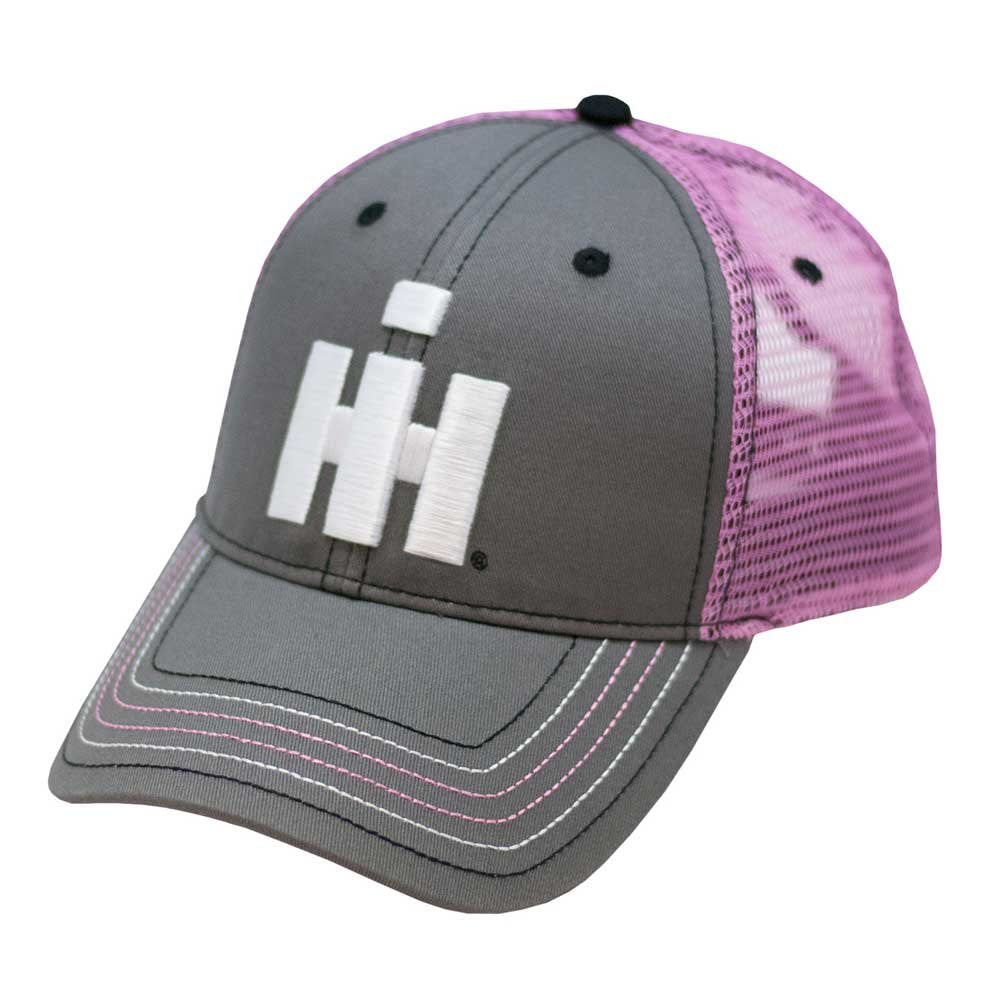 IH Women's Two Tone Grey/Pink Trucker Hat/Cap with 3D Logo  - 17IH118