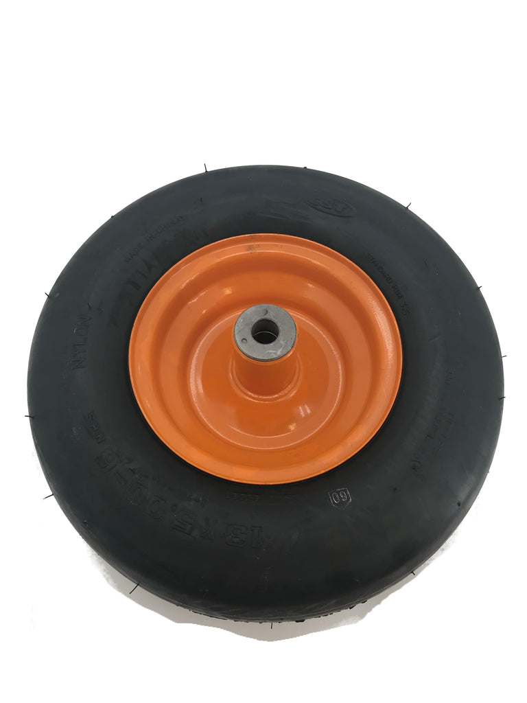 SUNBELT Wheel-Caster 13X5X6 Smooth, Orange - B1WL55