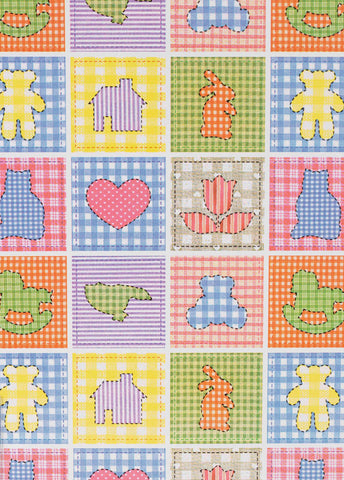 Carta da Regalo Patinata Baby Patchwork