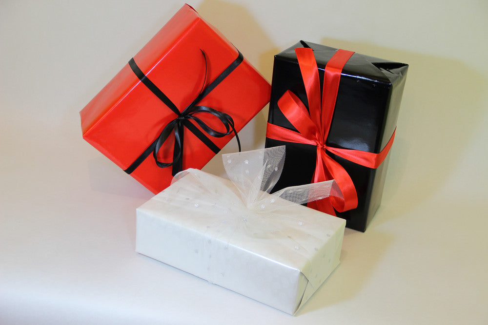 gift wrap paper black red white
