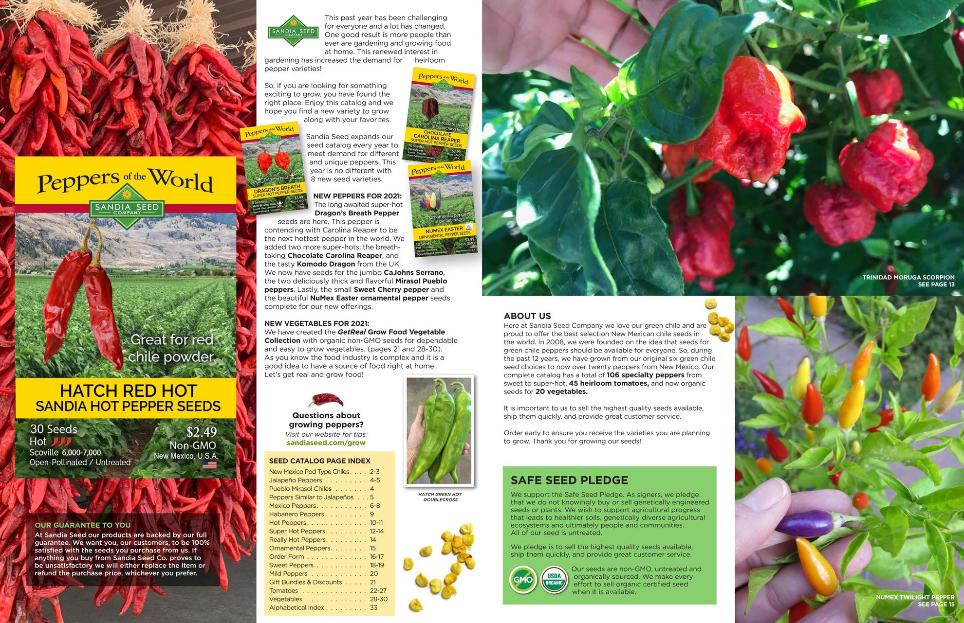2021 Seed Catalog from Sandia Seed - Hatch Chile Seeds
