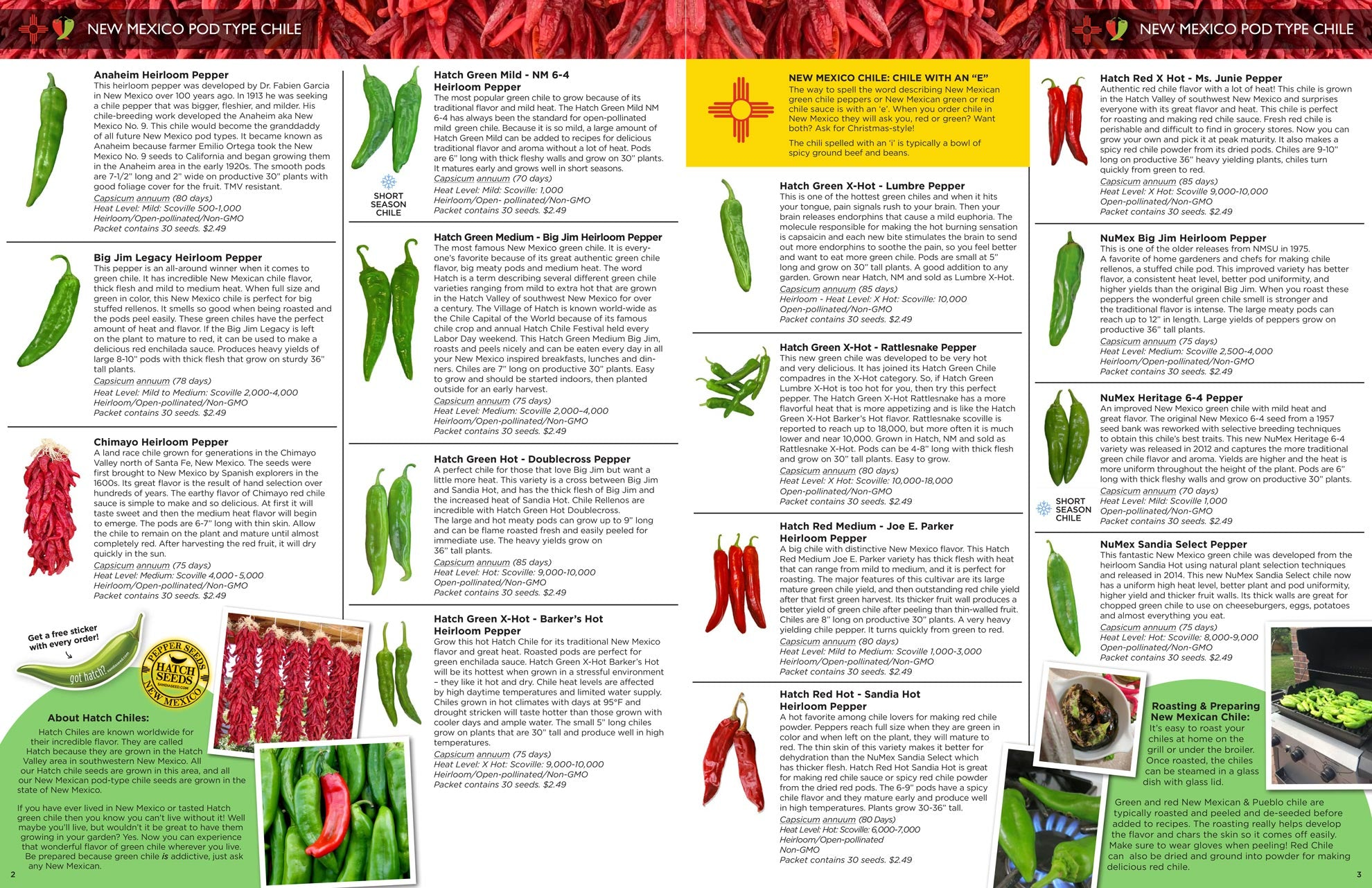 2021 Seed Catalog from Sandia Seed - Hatch Chile Seeds from New Mexico