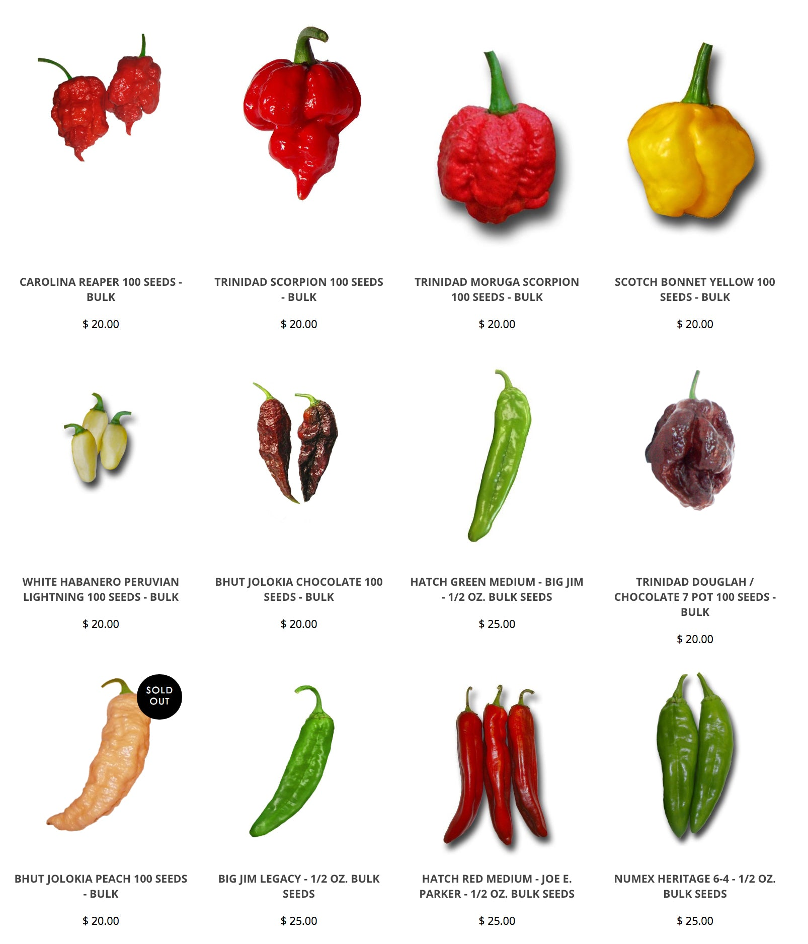Bulk Seed Store - Pepper Seeds