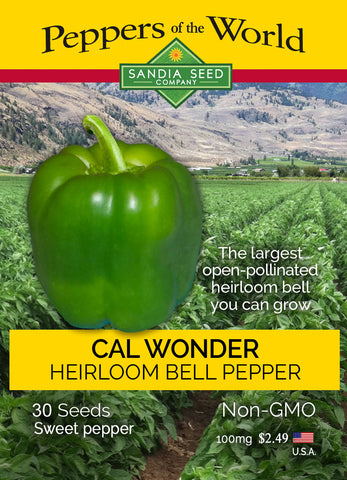 Green Bell Pepper Seeds – Cal Wonder