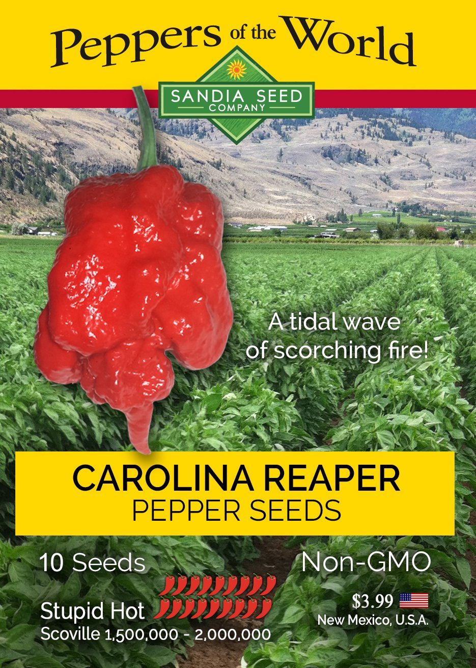 Hottest Pepper 2018 & 2019 - Carolina Reaper Seeds