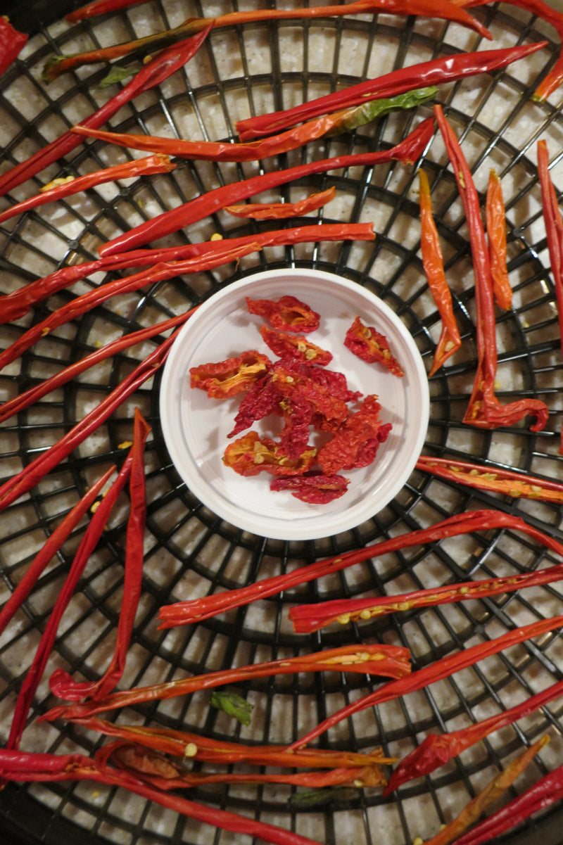 Carolina Reaper Powder Recipe - Dehydrating chiles