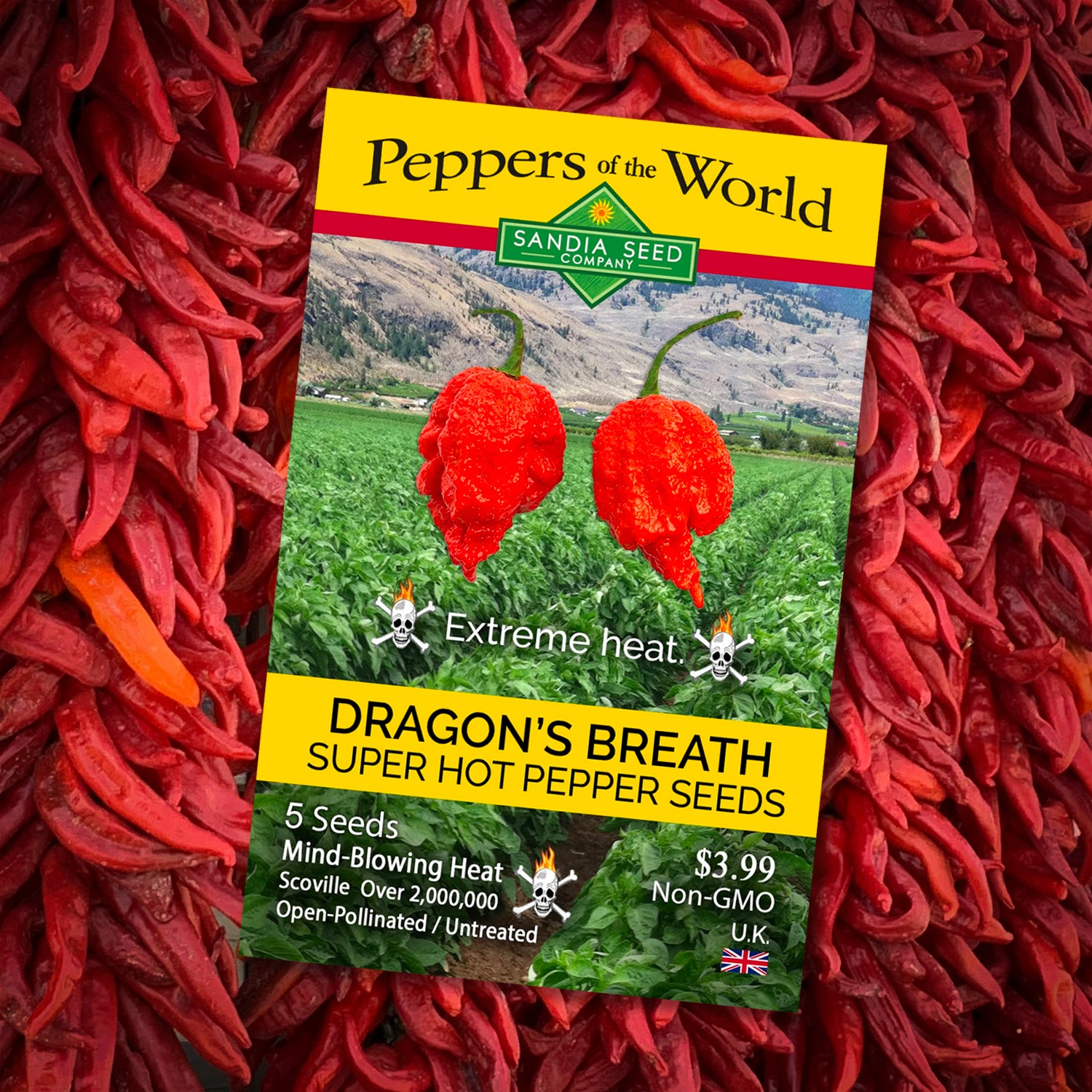 Grow Dragons Breath Plants with these Dragons Breath Pepper Seeds