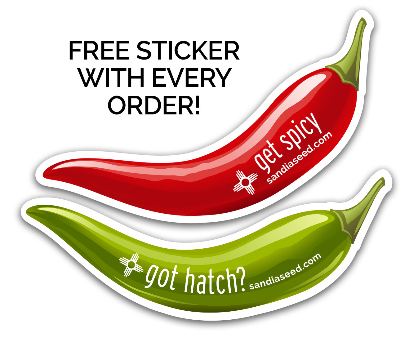Chilli Stickers from SandiaSeed.com