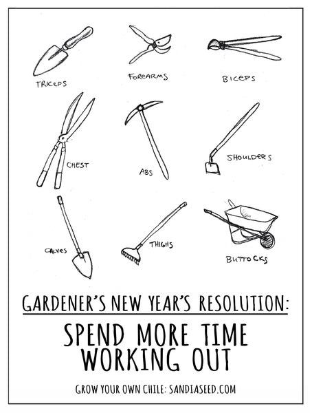 Gardener's New Year Resolution: Spend More Time Working Out