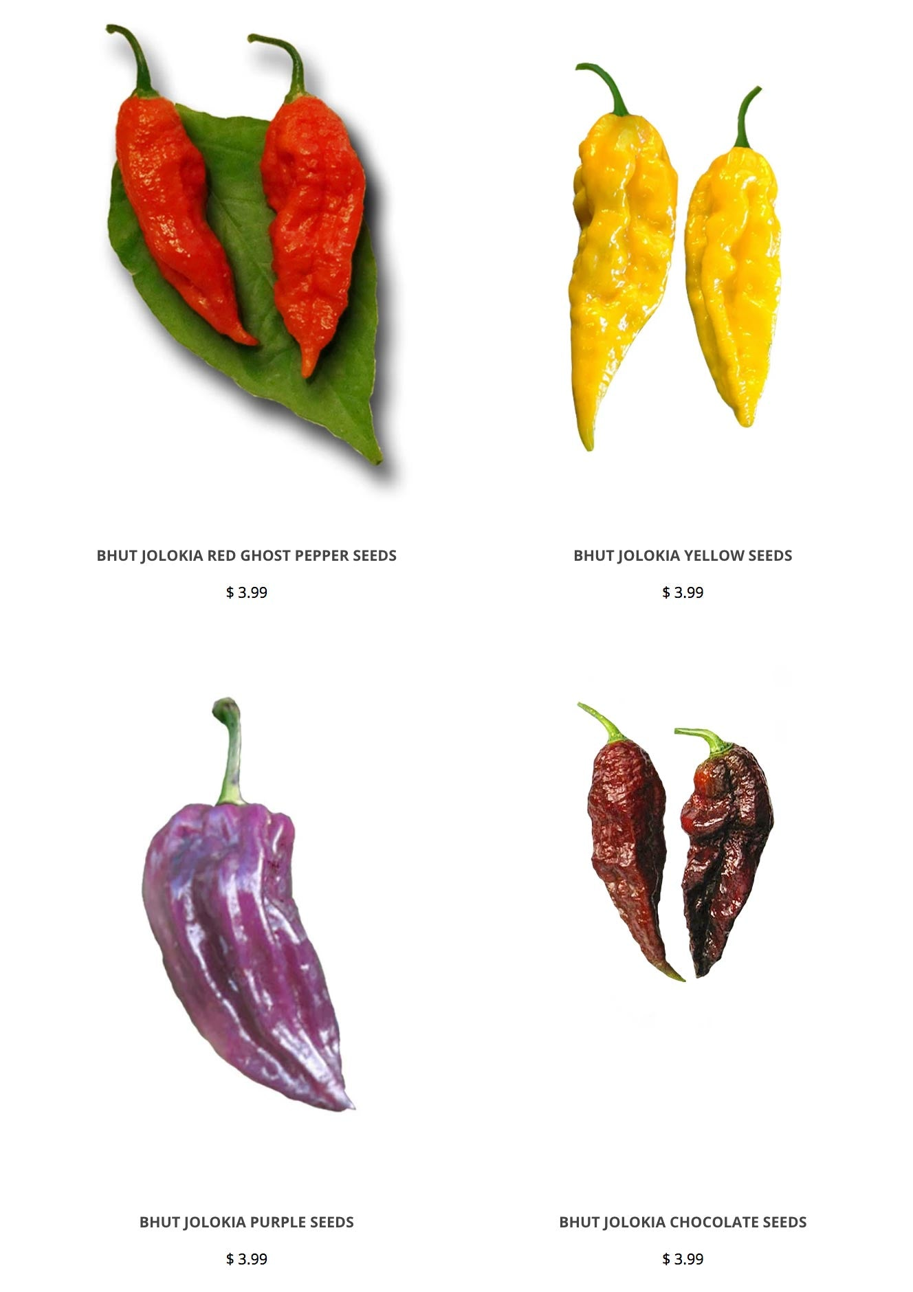 Types of Hot Peppers: Ghost Pepper Seeds