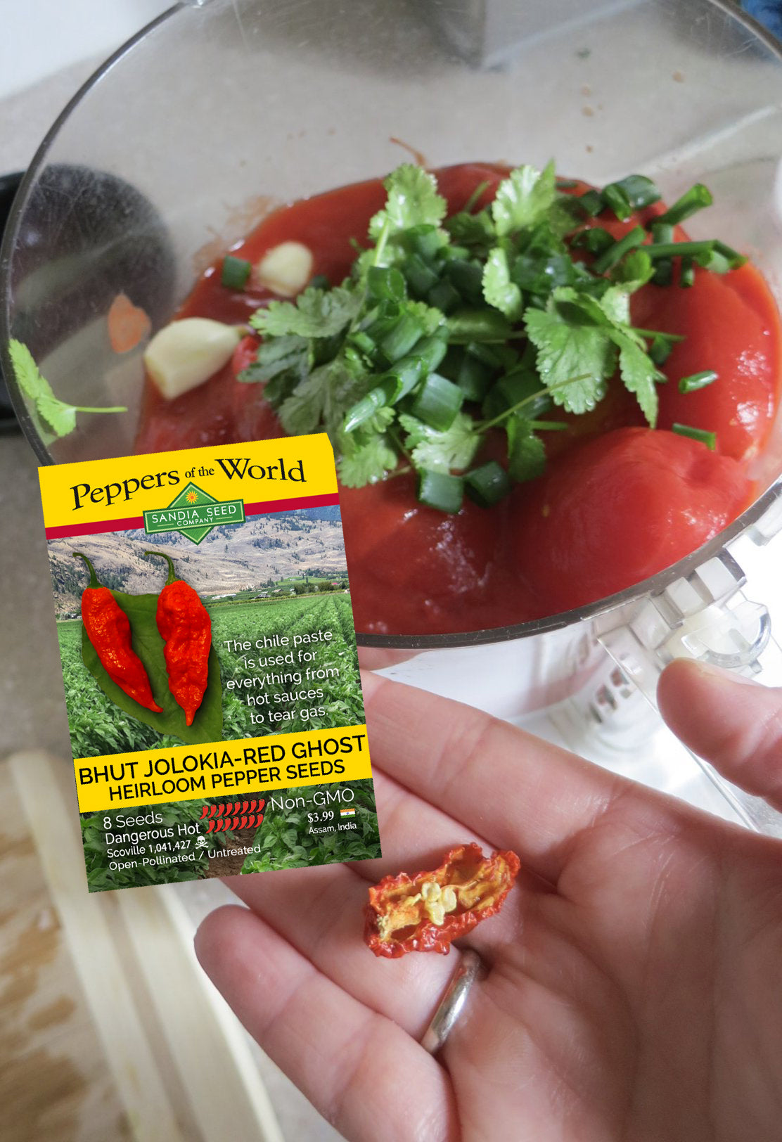 Ghost Pepper Salsa Recipe from Sandia Seed