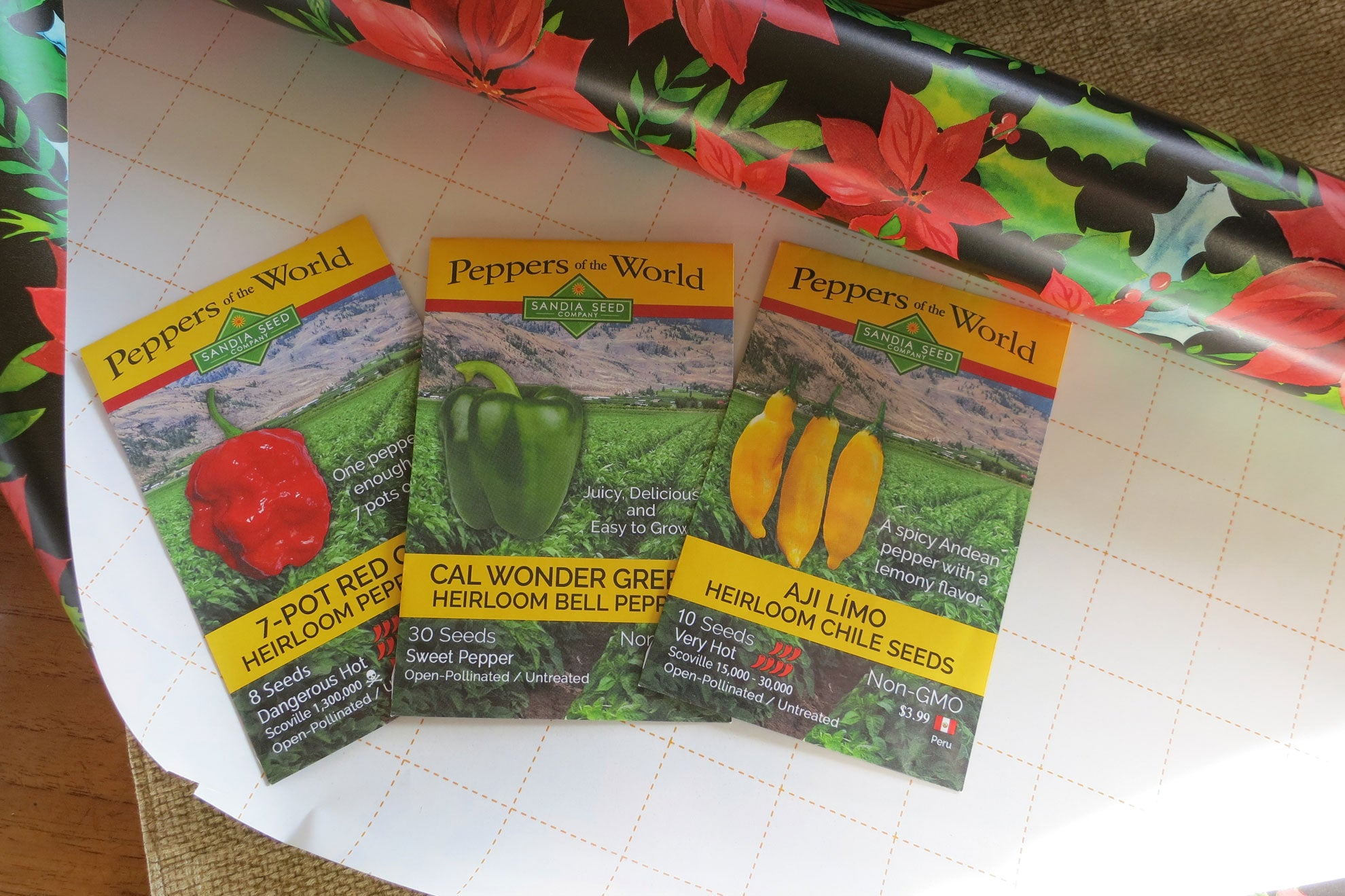 Gifts for Gardeners - Seeds from Sandia Seed make great Stocking Stuffers