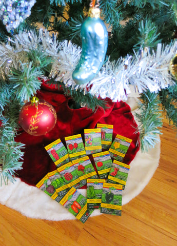 Gardener Gifts - Seeds make great Stocking Stuffers or for wrapping under the tree