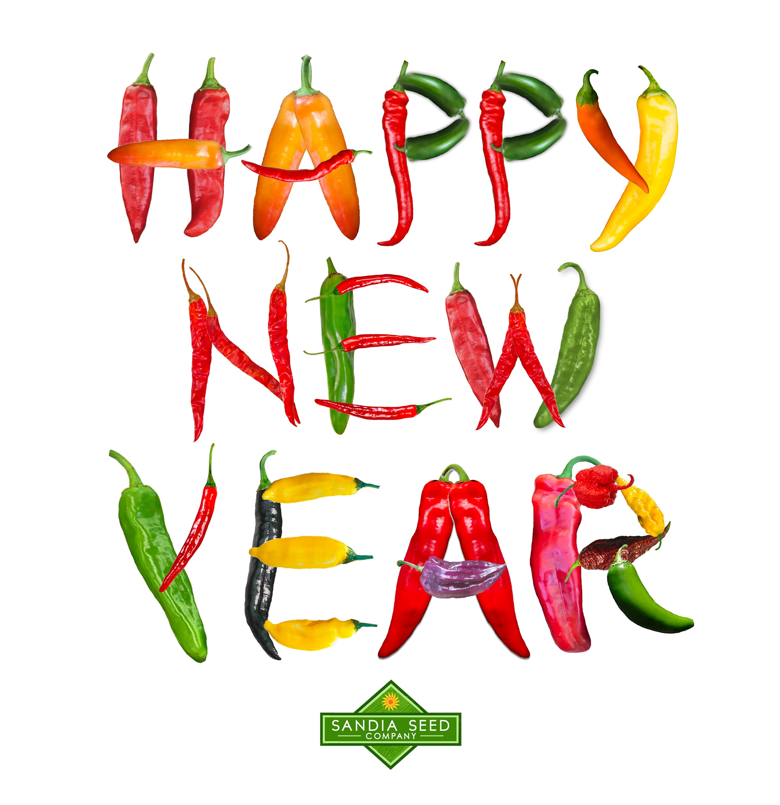 Happy New Year Chile Peppers