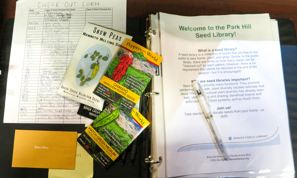 Seed Library with donated seeds from SandiaSeed.com
