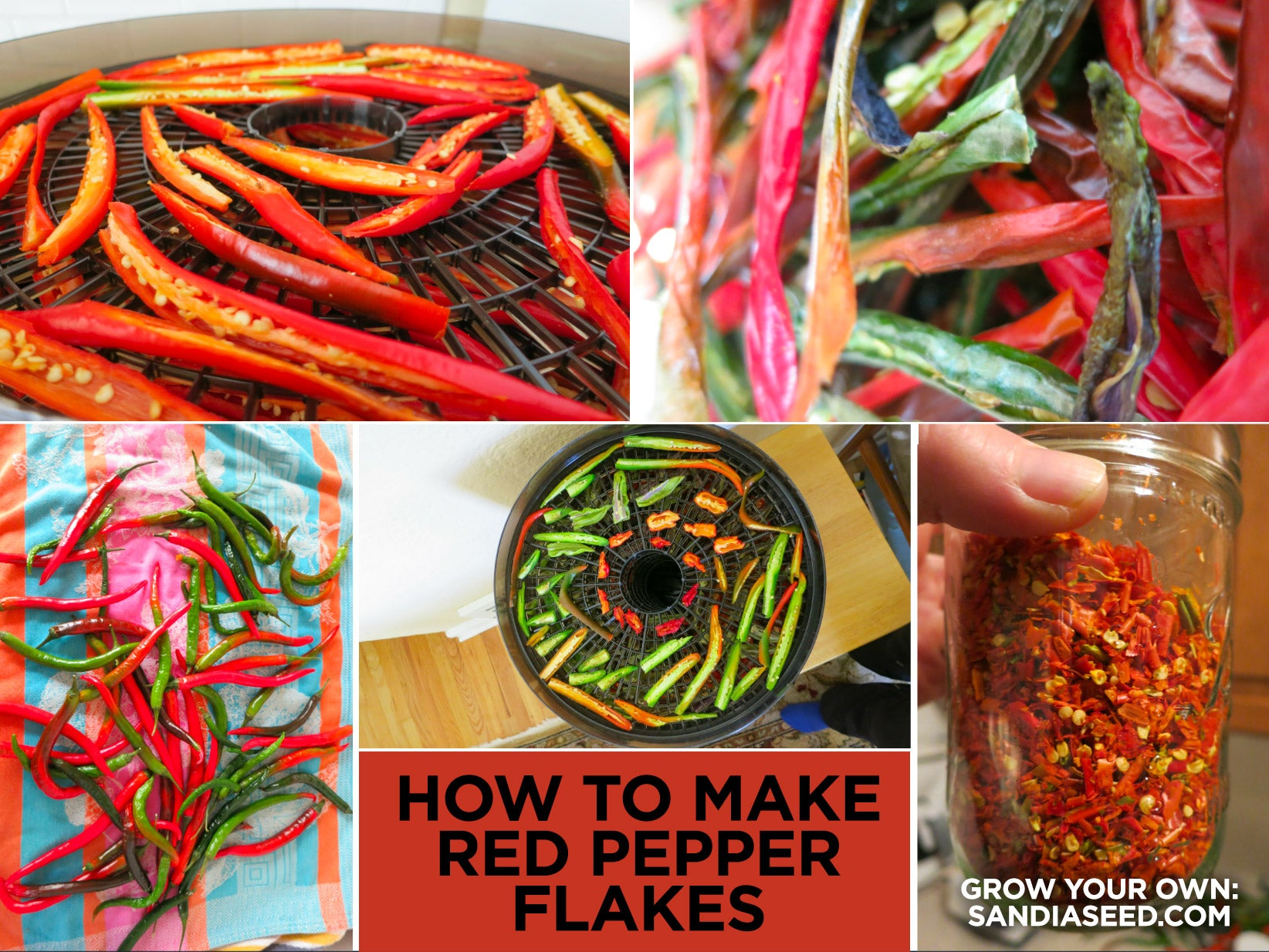 Hot Pepper Flakes Recipe from peppers grown from seed