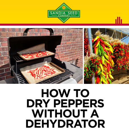 How to Dry Peppers without a Dehydrator using a grill!