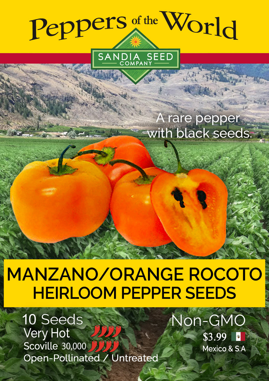 Manzano Pepper Seeds - Hot Pepper for Partial Shade or Mountain Growing