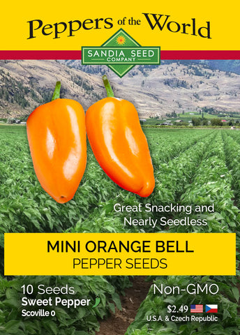 Mini Orange Bell Pepper Seeds