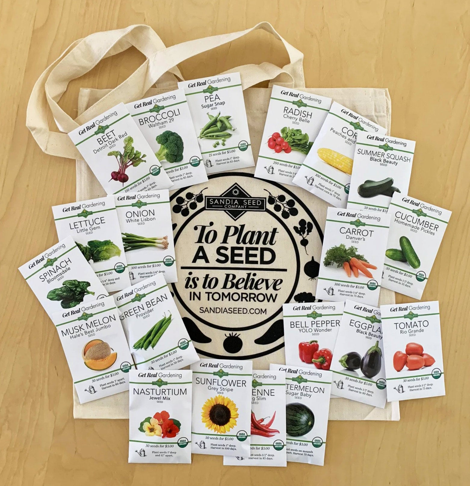 Gardening Gift Baskets - A Food Garden Seed Collection