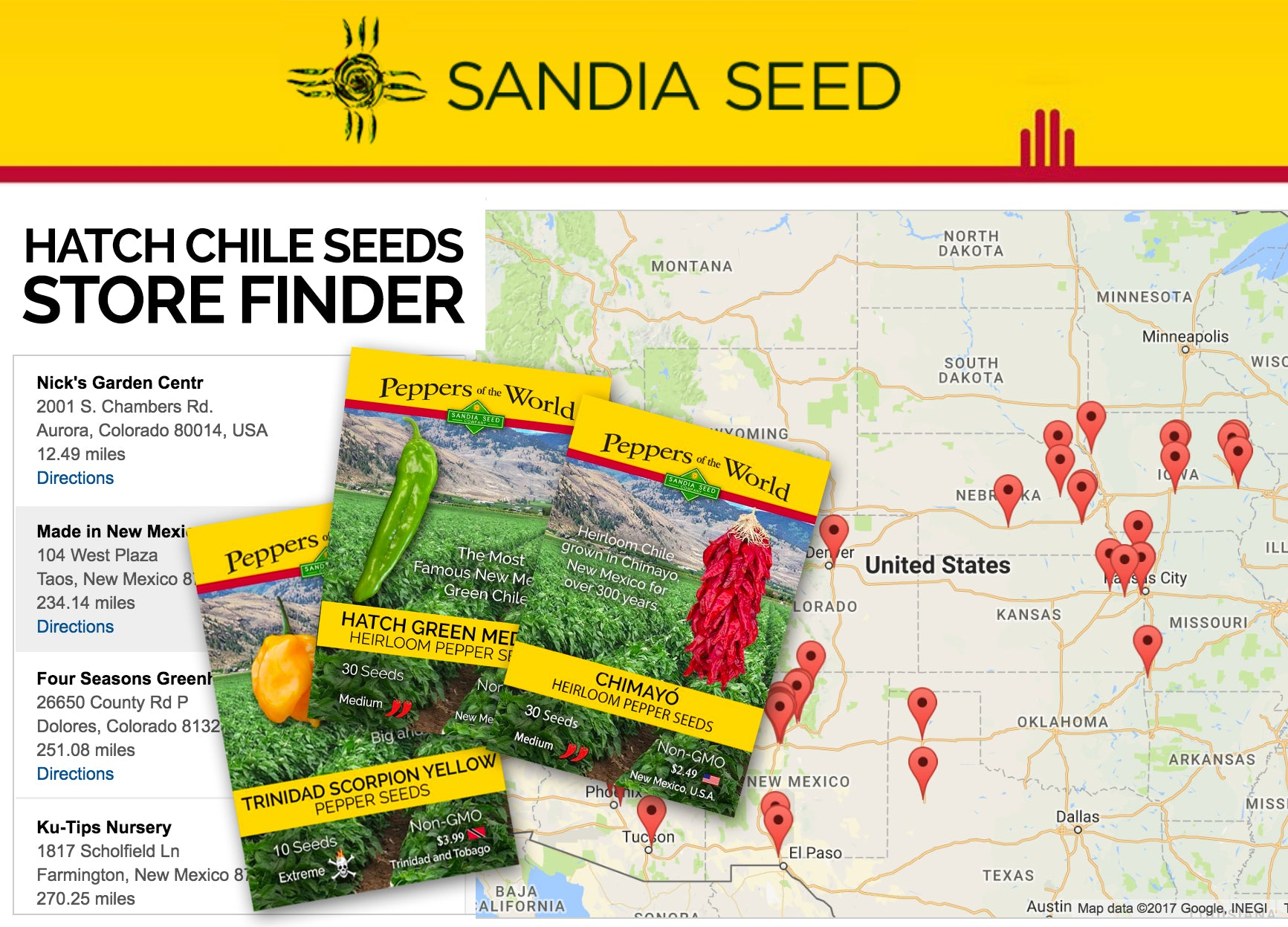 Pepper Seeds Store Locator