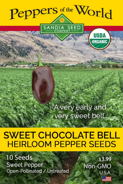 Earliest Pepper - Sweet Chocolate Bell Pepper Seeds