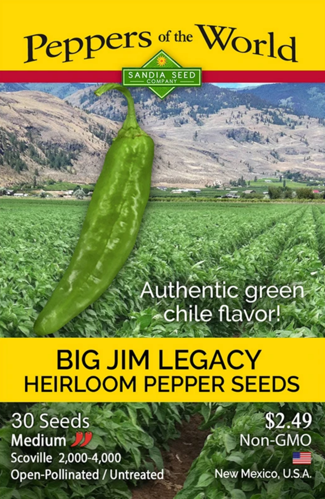 Green Chile: Big Jim Legacy Seeds from SandiaSeed.com