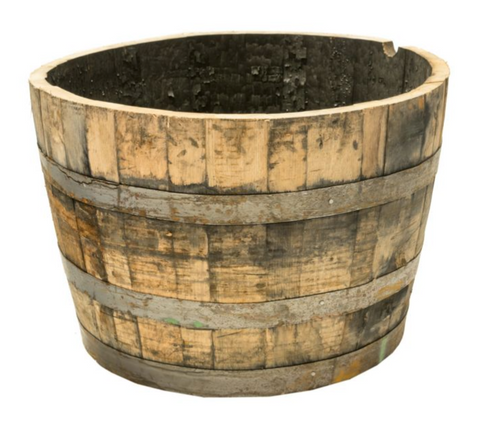 How deep should a container be for Peppers? A whiskey barrel is ideal!
