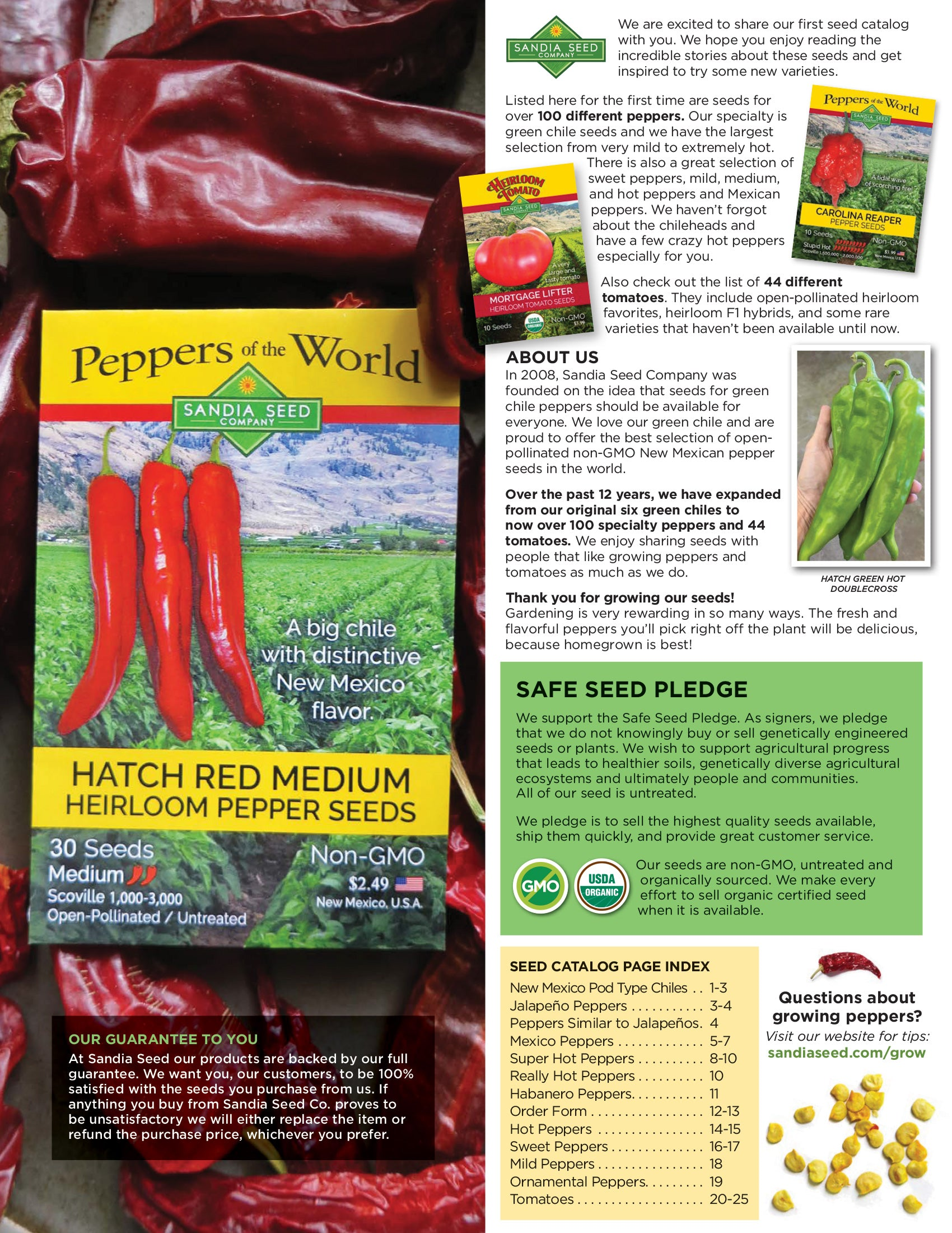 Seed Catalog for 2020 - featuring 100 Pepper seeds and 44 Tomato seeds!