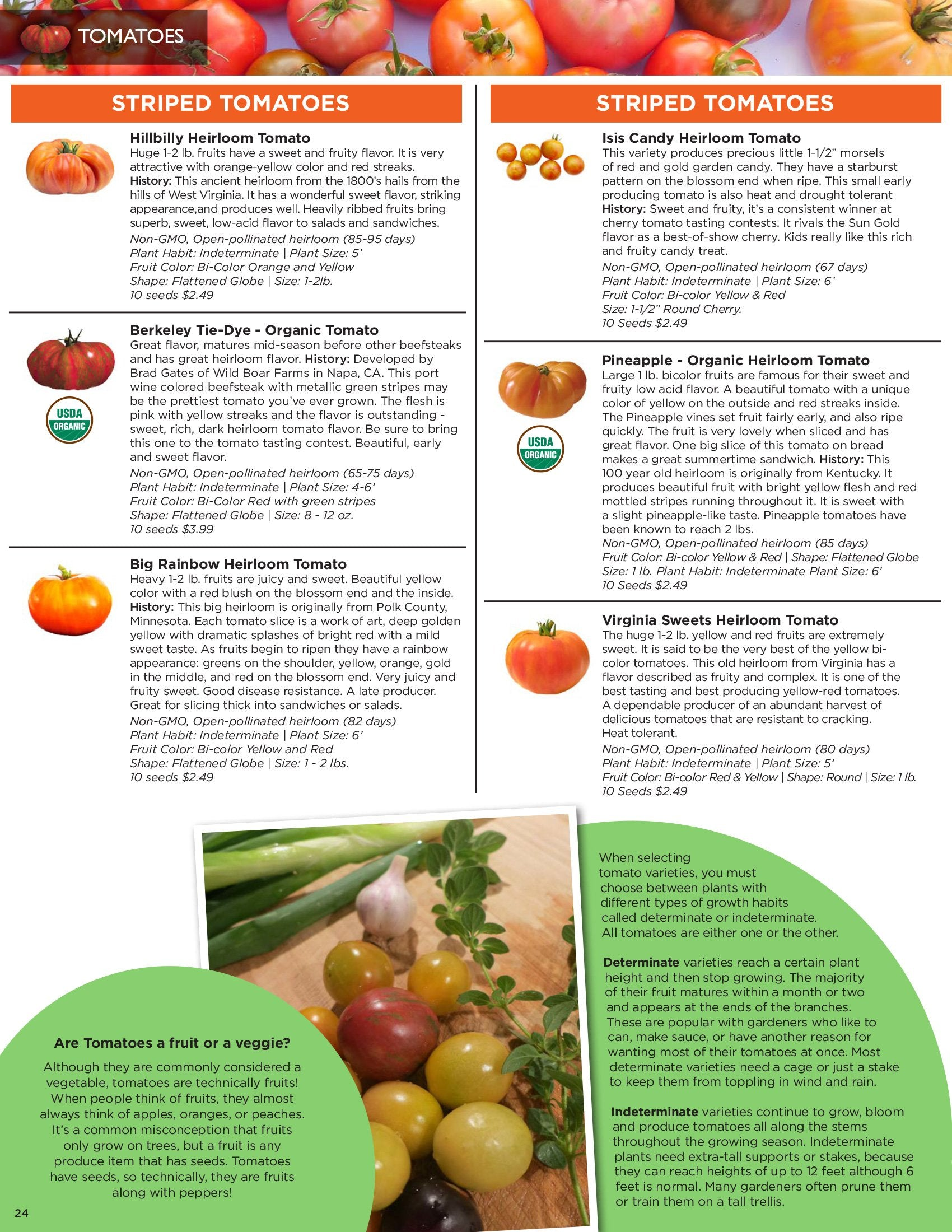 Sandia Seed Catalog: Favorite Heirloom Tomato Seeds &  Hybrid Tomato Seeds