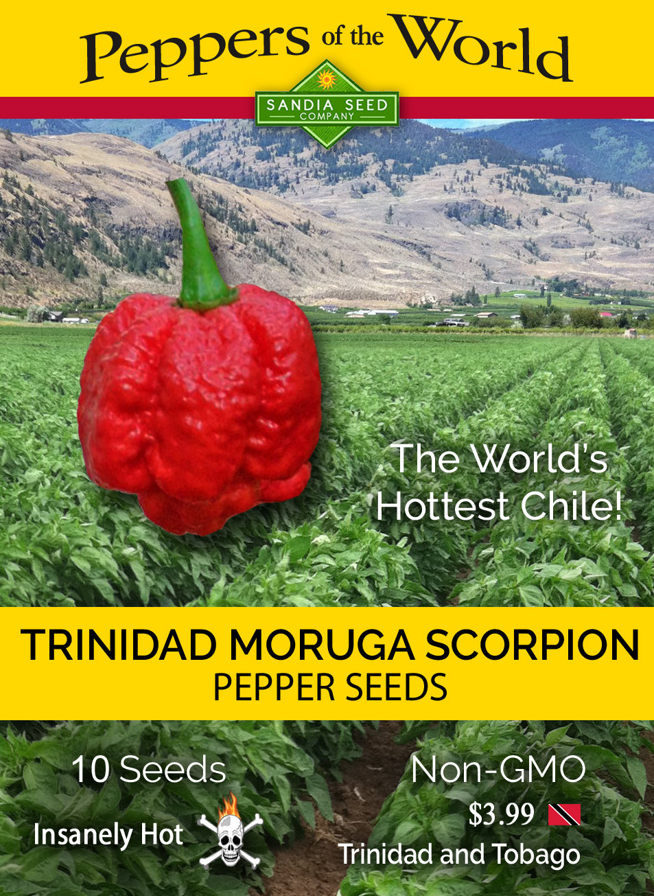 Trinidad Moruga Scorpion Seeds from Sandia Seed