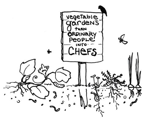 Garden Memes: Vegetable Gardens turn Ordinary People into Chefs - illustration by Picklewix
